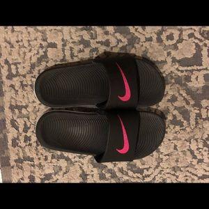 Worn once! Nike slides